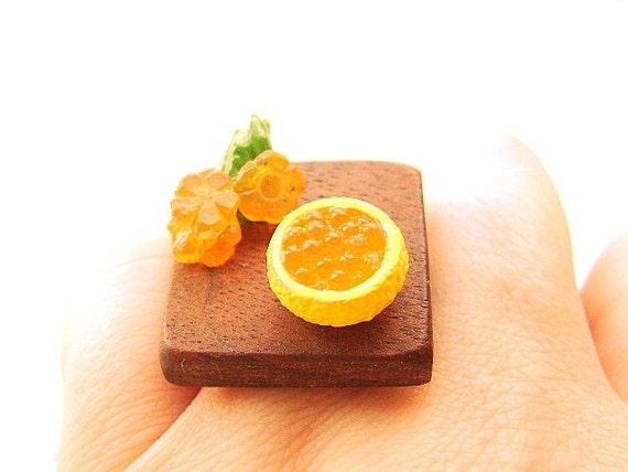 Kawaii Japanese Food Ring Miniature Food Jewelry Traditional SALE