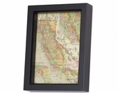 Framed Map of California Reprint 1895 Rand McNally Map