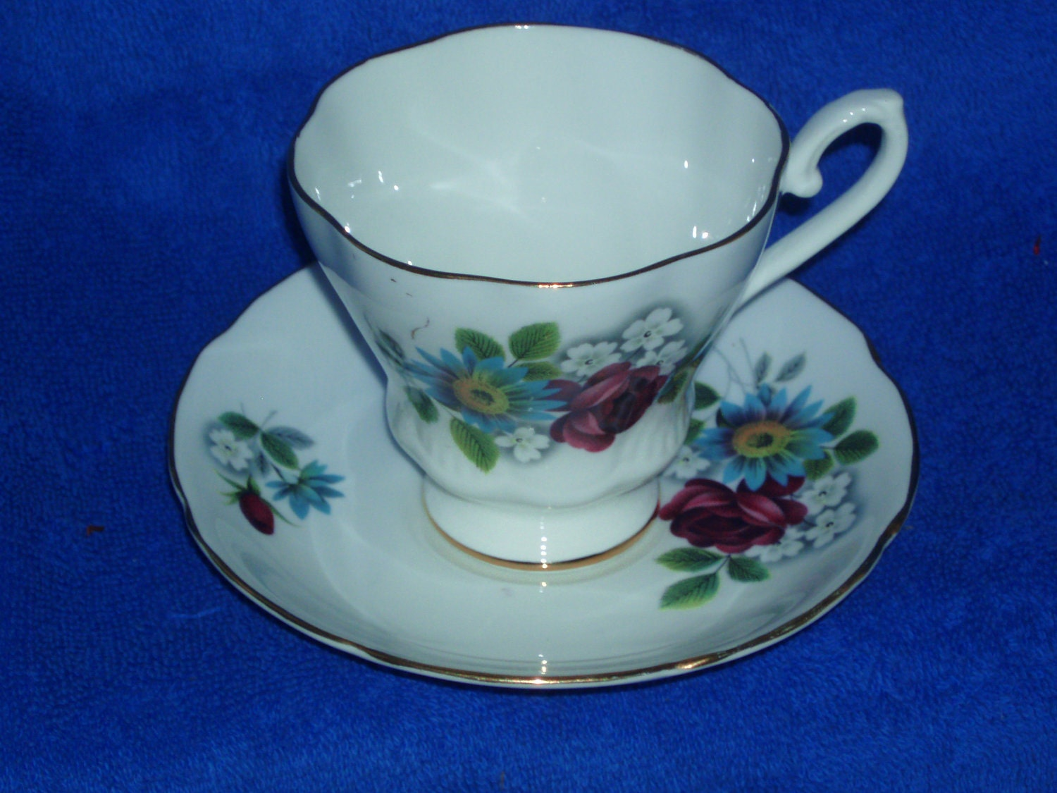 Vintage Royal Grafton Fine Bone China Cup and Saucer Made in