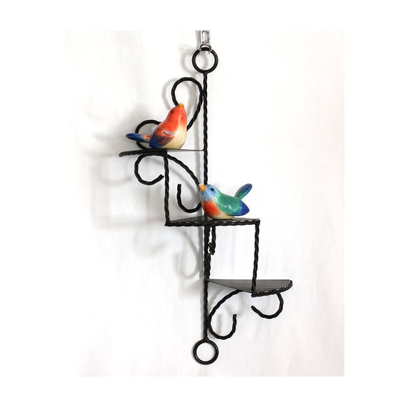 Vintage 50s Cascading Iron Wall Display