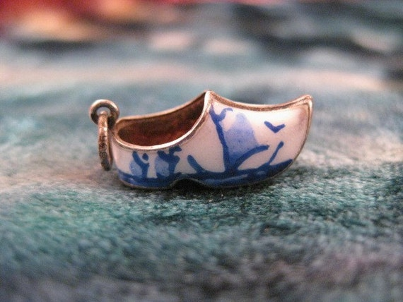 Charm Sterling Silver 3D Clog Charm with Enamel