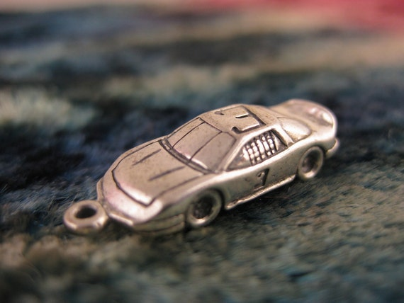 Charm - Sterling Silver - 3D Charms - NASCAR Collectibles - Race Car - Daytona 500 - Signed Stamped
