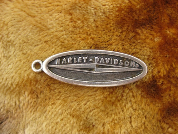 Charm - Sterling Silver - Harley Davidson - Advertising Collectible - Souvenir Charm - Harley Fest - Bike Week - Signed Stamped