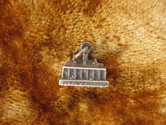Charm - Sterling Silver - Mt Vernon Charm - George Washington Home Souvenir - Virginia Collectible - American History