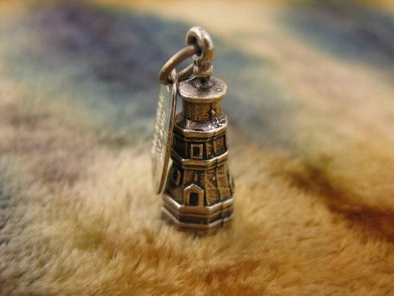 Charm - Sterling Silver - Mackinac Island Charm - Michigan Souvenir Charm - Vintage Lighthouse Charm - Travelers Charm