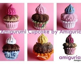AMIGURUMI CUPCAKE by Amiguria - PDF of crochet pattern