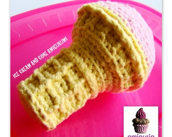 Ice Cream and Cone Amigurumi PDF Pattern by Amiguria