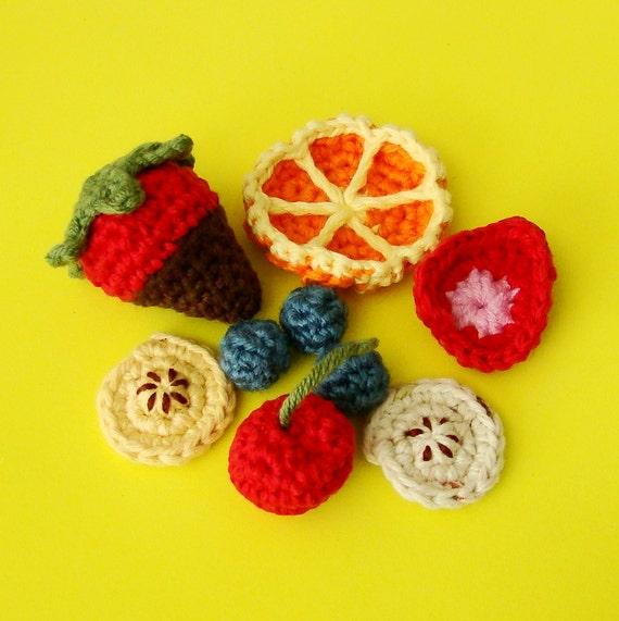 Tuto Amigurumi Fruit : Fruit Salad Amigurumi PDF pattern and FREE Amigurumi Chocolate