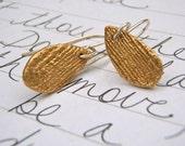 hope earrings . teardrop bronze charms . sterling by peaces of indigo
