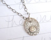 reserved for the fab ms W . white sapphire necklace . vintage style sapphire necklace . ready to ship . free shipping