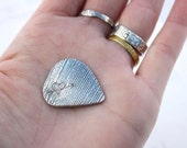 wild and free guitar pick . sterling silver love token plectrum . engraved heart and arrow inspirational valentine gift ready to ship