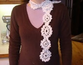 Snowflake Scarf created in crochet