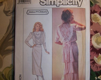 Gatsby Flapper Dress Pattern 80s Jessica McClintock Simplicity Dress Pattern size 12 size M