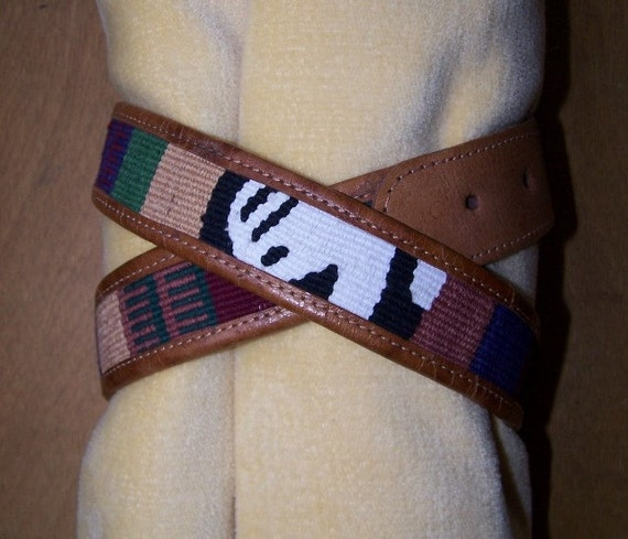 Guatemala BoHo Belt Woven n Leather size 30 BUY 2 Get 1 FREE Storewide SALE