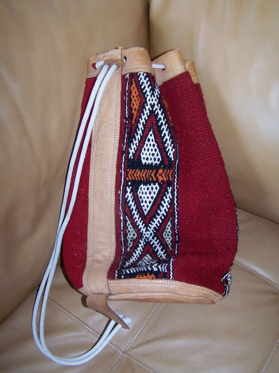 Ethnic BoHo Backpack BaG Leather n Woven fabric Storewide SALE Buy 2 Get 1 FREE