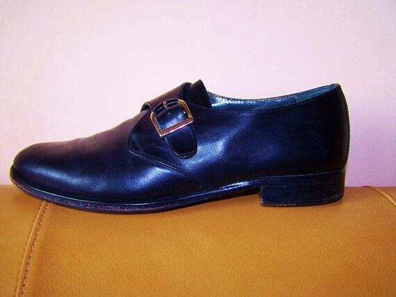 8m ALFANI Buckle Oxford Black Leather