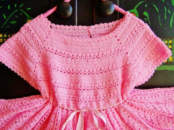 Vestido de crochet para niña paso a paso - Imagui