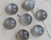 TWO Round Black Catseye Moonstone Cabochons 6mm | Black Moonstone Cabochons | Gray Moonstone | 6mm Round Moonstone