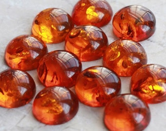 12mm Baltic Amber Cabochons | One cab | Round | Natural