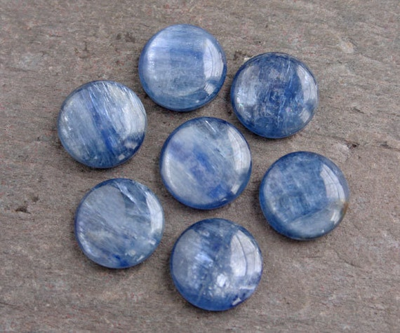 Beautiful Round Blue Kyanite Cabochon - 12mm