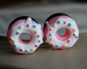 """3/4"""" (20mm) Doughnut Plugs for stretched ears.Donuts for your holes."""