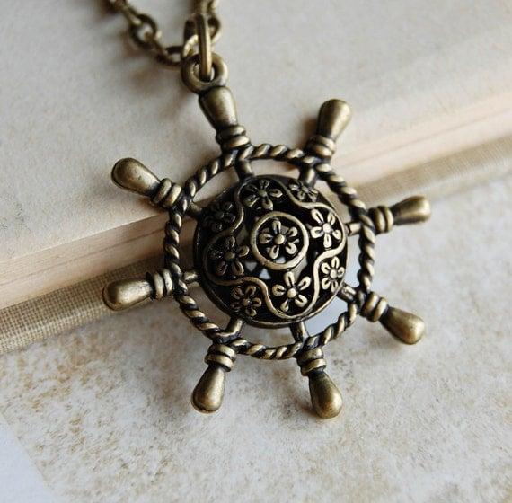 Nautical Ship Wheel Necklace