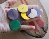 RESERVED FOR BRITTAN Recycled Skateboard Eight Eco Craft Buttons-Custom Made To Order