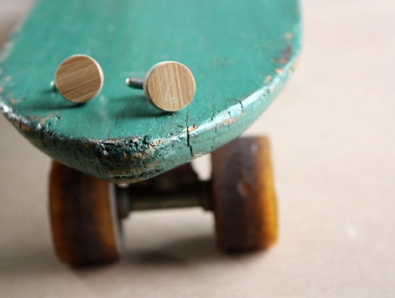 Recycled Skateboard Cuff Links-Bamboo Love