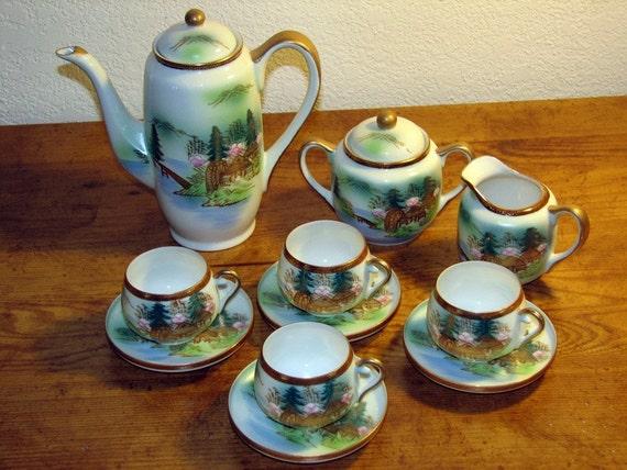 Antique Japanese Tea Set Antique Japanese Tea Set