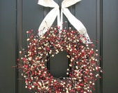 Berry Wreath - Love of Country Berries - Red White and Blue Wreath - Freedom Berries
