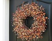 Fall Berry Wreaths - Harvested Berries - Fall Wreaths - Autumn Decor - Thanksgiving - Thanksgiving Feast