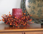 Fall Wreath - 2 - The Festive Berry Candlestick Wreaths - Set of Two