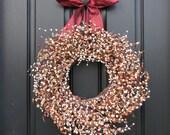 Berry Wreaths - Fall Berries - Autumn Decor - Harvest - Front Door Wreaths - Decorative Wreath