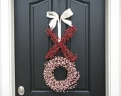 Valentine Wreath - Valentine's Day Wreath - XO Wreath - Wedding Wreath