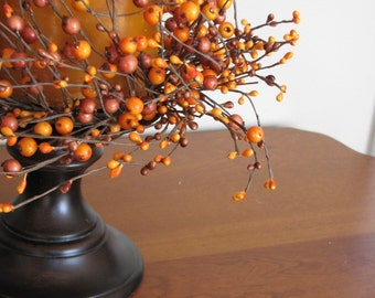 Fall Wreath - 2 - The Pumpkin Pie Berry Candlestick Wreaths - Set of Two