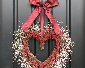 Valentine's Day Decorations -  How Much I Love You - Door Wreaths - Reception Decorations - Heart Wreaths - Valentine's Day Wreath