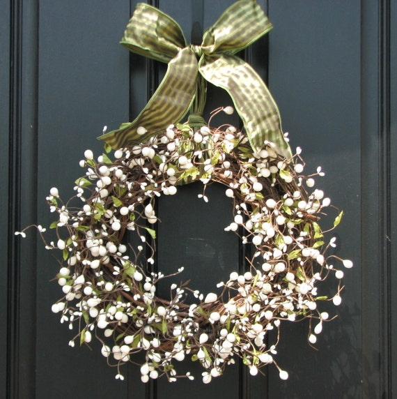 White berry wreath - Couronne de noel a fabriquer ...