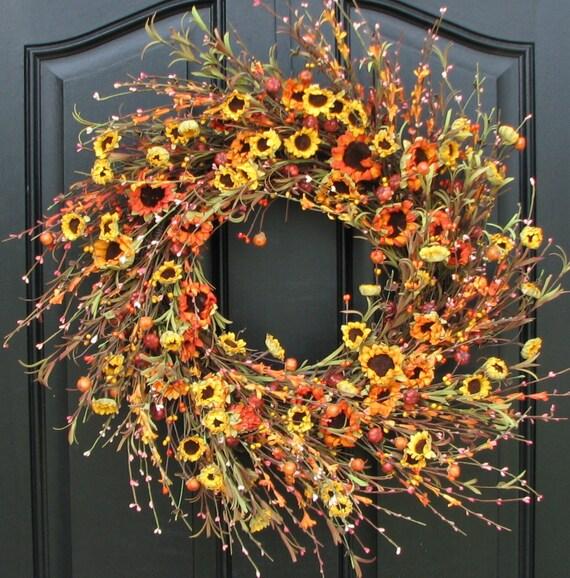 October's Harvest Wreath