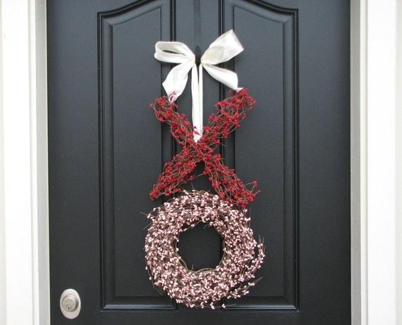Valentine Wreath - Valentine's Day Wreath - XO Wreath - Wedding Wreath