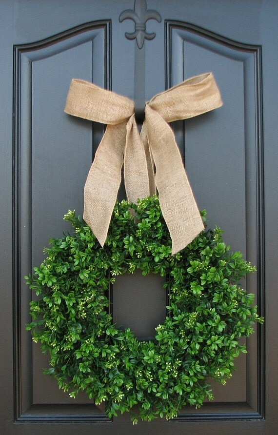 Summer Boxwood Wreath, Boxwood Wreath, Door Wreaths, Natural Looking Boxwood Wreath, Artificial Boxwood Wreaths