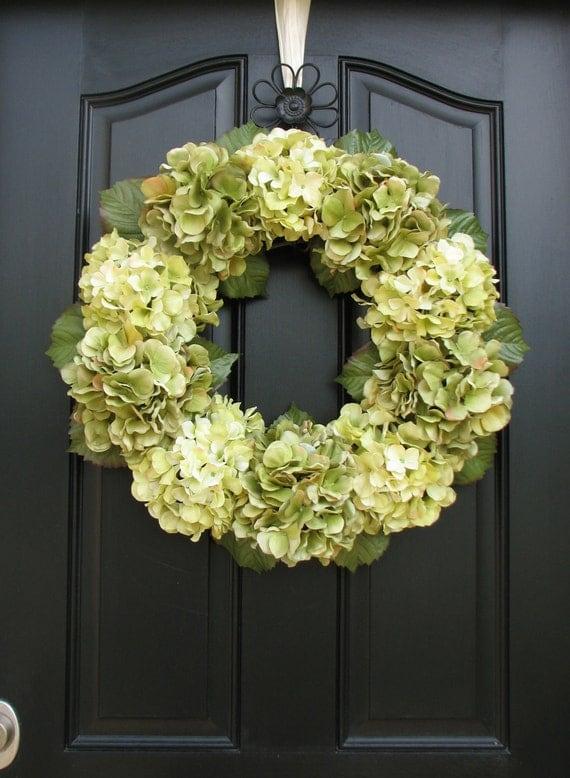 Wreaths - Hydrangea Wreaths -  Wreaths for All Seasons - Wedding Decorations