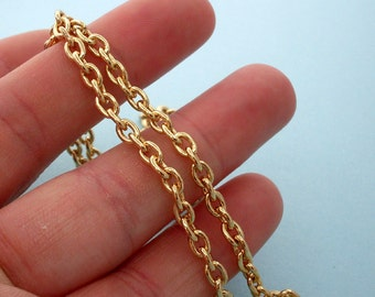 NEW Gold Plated Cable Chain Necklace - 18 inch