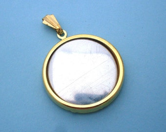 Gold Round Pendant Setting Frame Mounting 137GT