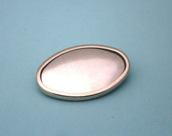 Silver Tone Oval Pin Setting Frame Mounting 147ST