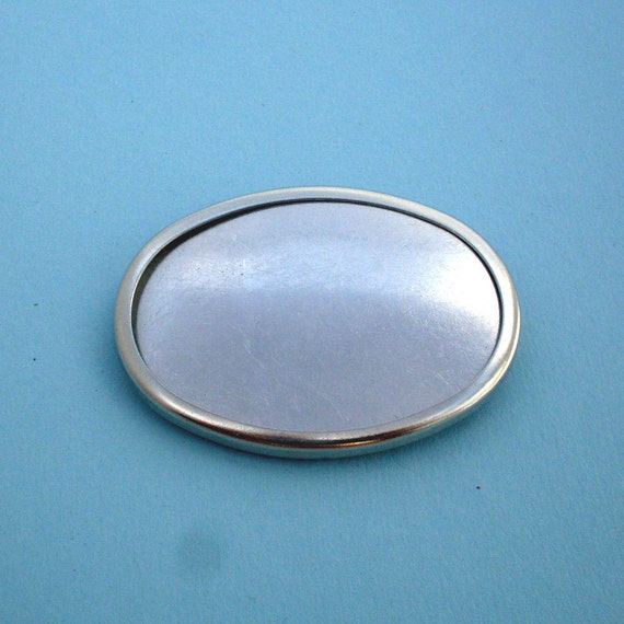 Silver Oval Pin Setting Frame Mounting 138ST