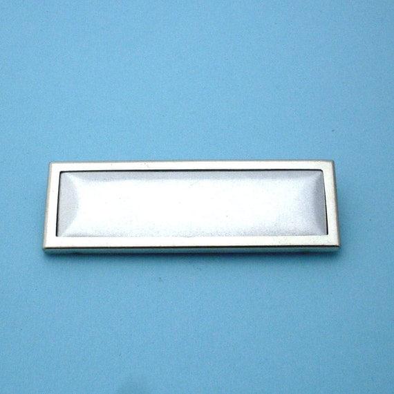 Silver Rectangular Pin Setting Frame Mounting 142ST