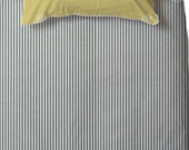 Full duvet cover - Seersucker / Pinstripes or Dots - Custom Made - Choose your fabric 32 colors available