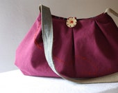 The African Queen in Plum, an OOAK bag by LaTouchables