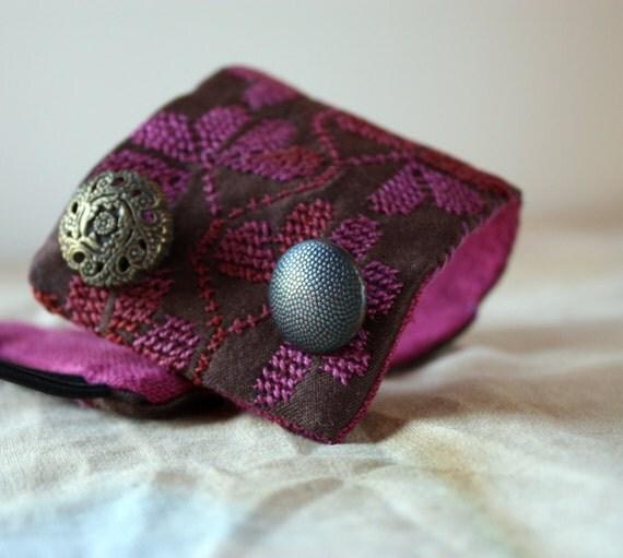 Chocolate Plum Tart, a Bedouin Bracelet-Cuff, by LaTouchables