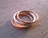 Silver and Rose Gold Trio Ring Set